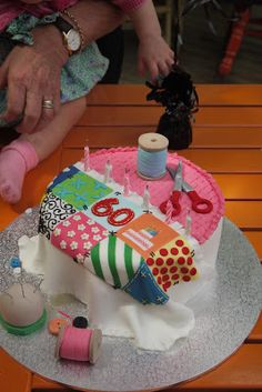 Who wouldn't want to celebrate a birthday if they got a cake like this!!!  From Patchwork Fundamentals