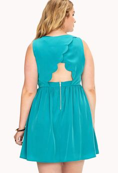 Fancy Cutout Scalloped Back Dress | FOREVER21