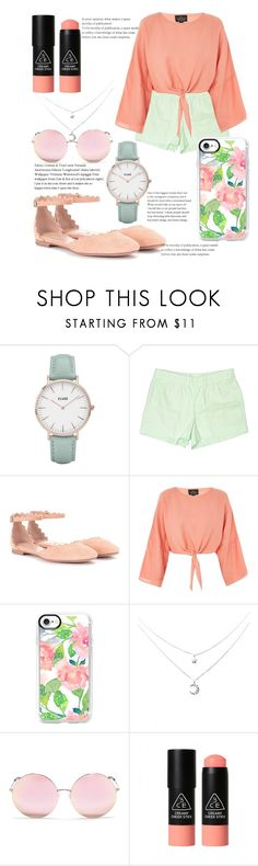 """""""Life's a Peach"""" by u-n-i-c-o-r-n-g-i-r-l on Polyvore featuring CLUSE, J.Crew, Chloé, Topshop, Casetify, Matthew Williamson and 3 Concept Eyes"""