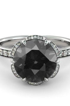 Very Designer Round Brilliant Cut Black Diamond Solitaire Ring In 925 silver Women/'s Jewelry Unique Rope Design 0.60 Ct Certified