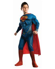 Superman Kinder Muskel Kostüm | Superhelden Verkleidung für Kids | horror-shop.com  #Superman #Superhero