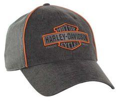 d1805a203254d Harley-Davidson Men s Nostalgic Bar   Shield Baseball Cap BC31380