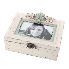 Rustic Looking White Photo Box