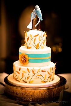 Blue Birds!!   Tiffany's Baking Co., Lake Lure Inn wedding cakes