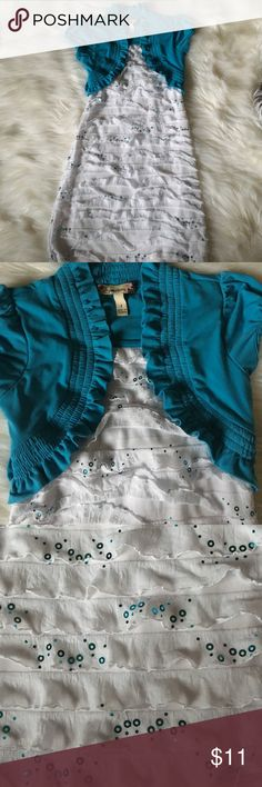 Girls size 7 sequin dress Good used condition. Size 7. Ties in back. Bundle with another item for an additional 30% off Dresses