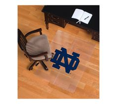 ES Robbins Sports University of Notre Dame Logo Hard Floor Foldable Chairmat from OfficeMax