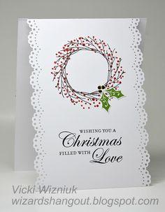 Wizard's Hangout: A lifted card idea... super easy Christmas card