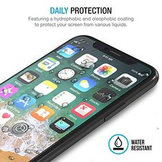 iPhone X Tempered Glass Screen Protector with Installation Tray, XKAUDIE Screen Protector 2.5D Arc Edges 9 Hardness, HD, Anti-Scratch, Bubble-Free For iPhone X [3 Pack]  https://topcellulardeals.com/product/iphone-x-tempered-glass-screen-protector-with-installation-tray-xkaudie-screen-protector-2-5d-arc-edges-9-hardness-hd-anti-scratch-bubble-free-for-iphone-x-3-pack/  Specifically designed for iPhone X Bubble Free Guaranteed, Designed for easy installation Ultra thin-0.25mm