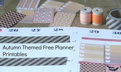 My favourite autumn, fall and halloween themed planner printables for Happy Planner and Erin Condren Life Planner