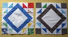 Alternate Piecing Method for Flower Garden Path Katie Blakesley Note: The tutorial calls for 10 squares that measure 2 7/8 inch. Four of these will be sewn into hst pairs. If you aren't completely comfortable with the thought of accurately piecing 2.5 inch finished hst pairs, I suggest cutting these four blocks in 3 inch squares, both the background print and feature print