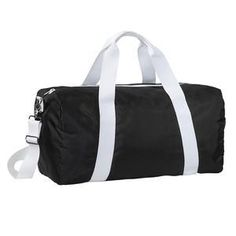 Basic Large Polyester Duffel Bag With Shoulder Strap - District Overnighter  DT707  #duffelbag #polyesterbag #largeduffel