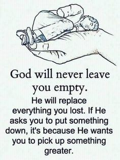 You have to get rid of the junk so God can replace it with