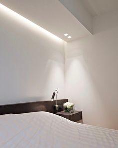 ✔️ 95 Lighting Ceiling Bedroom Ideas For Comfortable Sleep 5 Trendy Bedroom Lighting 74 Bulkhead Ceiling, Ceiling Lights, Cove Lighting Ceiling, Ceiling Ideas, Bedroom Lighting, Interior Lighting, Light Bedroom, Rustic Lighting, Luxury Interior