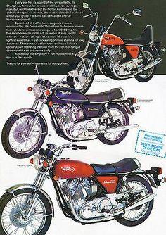 1973 Norton Commando Line - Promotional Advertising Poster