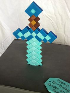 Minecraft Sword or Pickaxe Fondant Cake Topper by ...