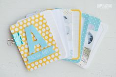 BEYOND SWEET! simple as that: Project Life 2013: a mini baby album