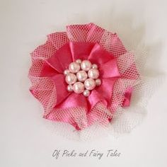 Satin and Tulle Flower Tutorial