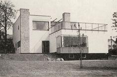 Alva och Gunnar Myrdals villa i Bromma, Stockholm. Arq: Sven Markelius 1937 Imag: Okänd