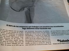 Copy inteligente Publicidad Banco Sabadell Personalized Items, Banks, Advertising, Management