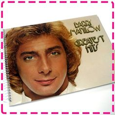 BARRY MANILOW'S GREATEST Hits Original Recycled / Upcycled Retro Record Album Cover Journal Notebook - Vintage Circa 1978- on Etsy, $12.95