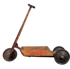 1930-31, 36 inches, Coca-Cola Flyer, three-wheel scooter, $2,500