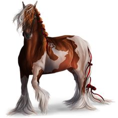 Riding Horse Gypsy Vanner Chestnut Tobiano
