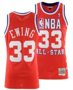 Mitchell   Ness Men s Patrick Ewing Nba All Star 1989 Swingman Jersey -  Red White S 4d36a1fbf
