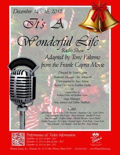"""It's A Wonderful Life - Radio Show"" Wheaton Drama poster design by Traci A. Cidlik, 2012."