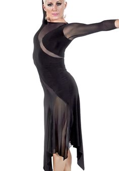 M&J Champion Wear Serpentine Flare Latin Dance Dress 3900| Dancesport Fashion @ DanceShopper.com