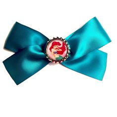 Little Mermaid Bow, Little Mermaid Hair Bow, Little Mermaid, Disney Mermaid, Ariel, Ariel Bow, Ariel Hair Bow, Teal Hair Bow by MermaidsAndMateys on Etsy