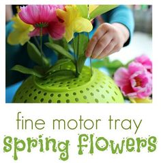 Fine Motor Activity of the Week: Spring Flowers!- pinned by @PediaStaff – Please Visit  ht.ly/63sNt for all our pediatric therapy pins