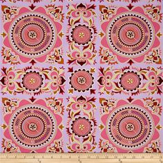 Amy Butler Dream Weaver Mantra Violet from @fabricdotcom  Designed by Amy Butler for Free Spirit, this Moroccan inspired collection combines floral and abstract patterns with vibrant girly colors. This cotton print is perfect for quilting, apparel and home decor accents. Colors include violet, gold, pink, plum, green, coral and cream.