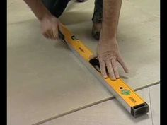 How to Tile a Kitchen Floor Part 1 - The Home Depot Woodworking Workbench, Woodworking Projects, Homemade Tables, Garage Organisation, Diy Table Saw, Diy Home Repair, Mirrored Furniture, Diy House Projects, Home Repairs
