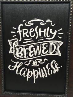 Coffee Chalkboard, Blackboard Art, Kitchen Chalkboard, Chalkboard Lettering, Chalkboard Signs, Chalkboards, White Cafe, Coffee Theme, Typography Poster Design