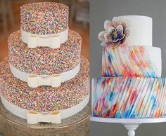Stick with your color palette and unique style to keep with the cohesive design of your wedding .