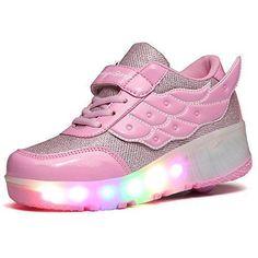 e7fd30d7 Comprar Ofertas de SGoodshoes Mujer LED Zapatos con Ruedas Hombre Zapatillas