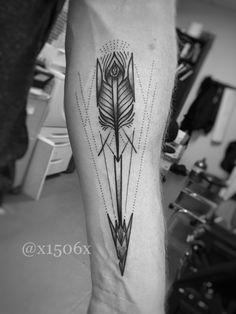 #tattoo #tattoos #arrowtattoo #dotwork #blackwork #geometry #geometrictattoo #blackandgrey #torontotattoos