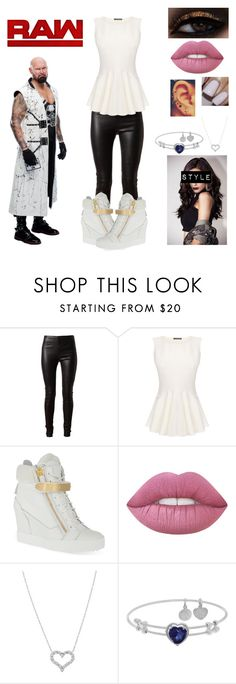 """""""How You Meet Luke Gallows"""" by queenreigns-916 ❤ liked on Polyvore featuring Balenciaga, Alexander McQueen, Giuseppe Zanotti, Lime Crime, Tiffany & Co. and WWE"""