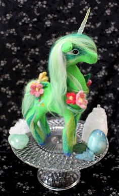 Felt Unicorn,Green