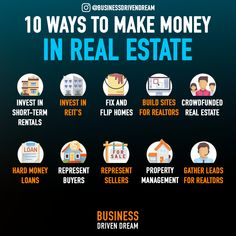 Real estate is one of the most valuable assets to have in the world… as long as you have the right real estate. More millionaires have been made in real estate than any other industry.  Here are 10 ways you can start making money in real estate today. Stop thinking about doing it and just take action!