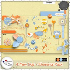 A new day par LeaUgoScrap - Elements Pack