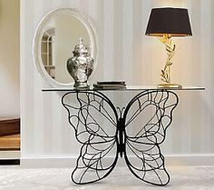 Home Reflections Indoor Outdoor Butterfly Console Table