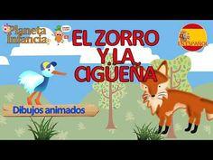 """""""El zorro y la cigüeña"""" - Aprender Juntos Grinch, Moral, Fables For Children, Infancy"""