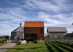 The Canadian architect has built a cabin at his Nova Scotia farmstead, featuring a rough skin of weathering steel, and a rustic but compact interior