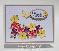 Thanks so Much by StampingwithMarsha - Cards and Paper Crafts at Splitcoaststampers