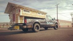 I should take that leaking popup apart and build THIS on the frame...Ford Flophouse Tiny House on a Truck 001