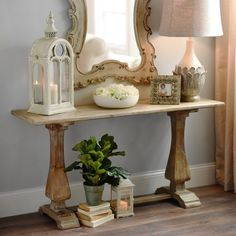 Organic accents are essential to your style. Whether your country or coastal, this wooden table has a distressed natural finish that pulls together your look. Be stylish while saving money with our Distressed Natural Wooden Trestle Table.