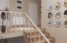 Лестница - Дизайн проект интерьера частного дома в Tachlovice (Прага – Запад) под ключ. Интерьер в классическом стиле. Дизайнер – Инна Войтенко. Строительные, отделочные, монтажные работы – компания ISDesign group s.r.o. Stairs, Cottage, Projects, Home Decor, Log Projects, Stairway, Blue Prints, Decoration Home, Room Decor