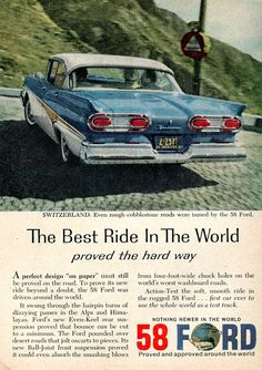 1958 Ford Fairlane Advertisement Readers Digest February 1958 | Flickr - Photo Sharing!