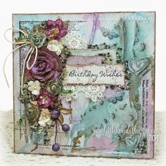 Happy Monday, everyone! Today's card is a mixed media card usingLili of the Valleypatterned papers and stamps...a little twist to the usual style you see from me using the same supplies! :) I'll sta